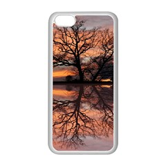 Aurora Sunset Sun Landscape Apple Iphone 5c Seamless Case (white) by Simbadda