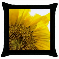 Plant Nature Leaf Flower Season Throw Pillow Case (black) by Simbadda