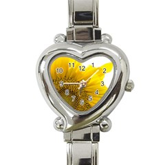 Plant Nature Leaf Flower Season Heart Italian Charm Watch by Simbadda