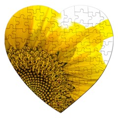 Plant Nature Leaf Flower Season Jigsaw Puzzle (heart) by Simbadda