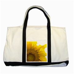 Plant Nature Leaf Flower Season Two Tone Tote Bag by Simbadda