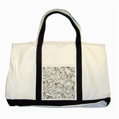 Pattern Motif Decor Two Tone Tote Bag by Simbadda