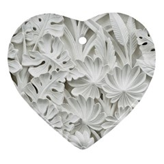 Pattern Motif Decor Heart Ornament (two Sides) by Simbadda