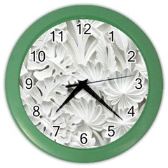 Pattern Motif Decor Color Wall Clocks by Simbadda