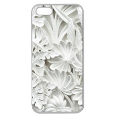 Pattern Motif Decor Apple Seamless Iphone 5 Case (clear) by Simbadda