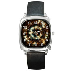 Science Fiction Energy Background Square Metal Watch by Simbadda
