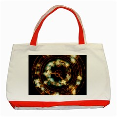 Science Fiction Energy Background Classic Tote Bag (red) by Simbadda