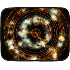 Science Fiction Energy Background Double Sided Fleece Blanket (mini)  by Simbadda