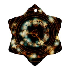 Science Fiction Energy Background Snowflake Ornament (two Sides) by Simbadda