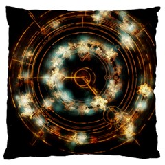 Science Fiction Energy Background Large Cushion Case (two Sides) by Simbadda