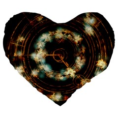 Science Fiction Energy Background Large 19  Premium Heart Shape Cushions by Simbadda