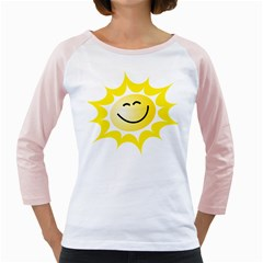 The Sun A Smile The Rays Yellow Girly Raglans