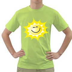 The Sun A Smile The Rays Yellow Green T Shirt by Simbadda