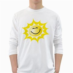 The Sun A Smile The Rays Yellow White Long Sleeve T-shirts by Simbadda