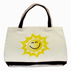 The Sun A Smile The Rays Yellow Basic Tote Bag by Simbadda