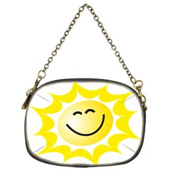 The Sun A Smile The Rays Yellow Chain Purses (two Sides)  by Simbadda