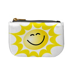 The Sun A Smile The Rays Yellow Mini Coin Purses by Simbadda