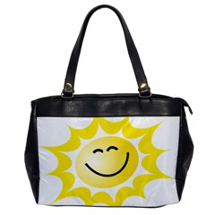 The Sun A Smile The Rays Yellow Office Handbags by Simbadda
