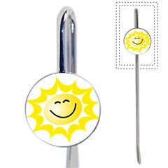 The Sun A Smile The Rays Yellow Book Mark by Simbadda