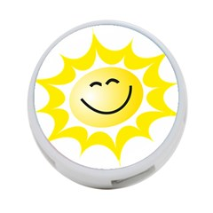 The Sun A Smile The Rays Yellow 4 Port Usb Hub (two Sides)  by Simbadda