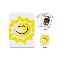 The Sun A Smile The Rays Yellow Playing Cards (mini)  by Simbadda
