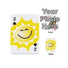 The Sun A Smile The Rays Yellow Playing Cards 54 (mini)  by Simbadda