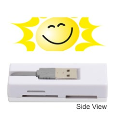 The Sun A Smile The Rays Yellow Memory Card Reader (stick)