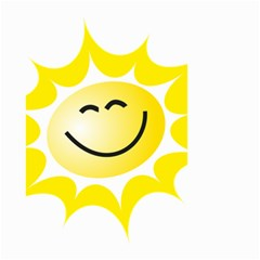 The Sun A Smile The Rays Yellow Small Garden Flag (two Sides) by Simbadda