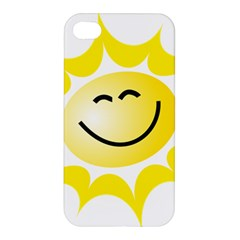 The Sun A Smile The Rays Yellow Apple Iphone 4/4s Premium Hardshell Case by Simbadda