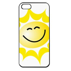 The Sun A Smile The Rays Yellow Apple Iphone 5 Seamless Case (black) by Simbadda