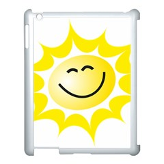 The Sun A Smile The Rays Yellow Apple Ipad 3/4 Case (white) by Simbadda