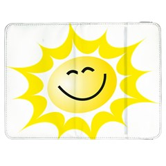 The Sun A Smile The Rays Yellow Samsung Galaxy Tab 7  P1000 Flip Case by Simbadda