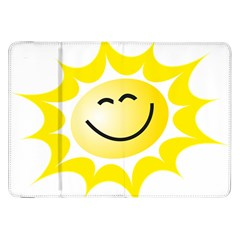 The Sun A Smile The Rays Yellow Samsung Galaxy Tab 8 9  P7300 Flip Case by Simbadda