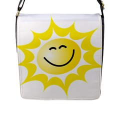 The Sun A Smile The Rays Yellow Flap Messenger Bag (l)