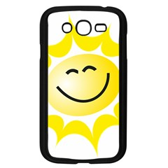 The Sun A Smile The Rays Yellow Samsung Galaxy Grand Duos I9082 Case (black) by Simbadda
