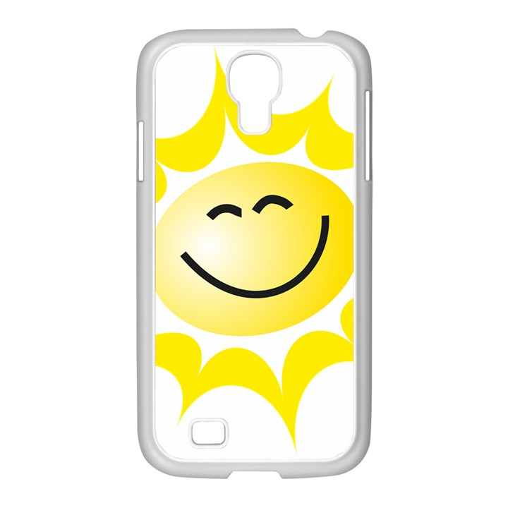 The Sun A Smile The Rays Yellow Samsung GALAXY S4 I9500/ I9505 Case (White)