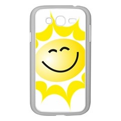The Sun A Smile The Rays Yellow Samsung Galaxy Grand Duos I9082 Case (white) by Simbadda