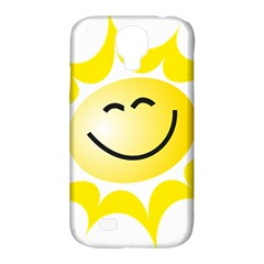 The Sun A Smile The Rays Yellow Samsung Galaxy S4 Classic Hardshell Case (pc+silicone) by Simbadda