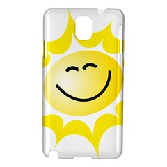 The Sun A Smile The Rays Yellow Samsung Galaxy Note 3 N9005 Hardshell Case by Simbadda