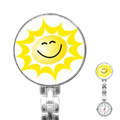 The Sun A Smile The Rays Yellow Stainless Steel Nurses Watch by Simbadda