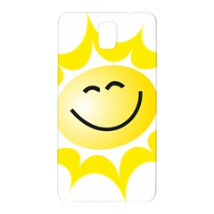 The Sun A Smile The Rays Yellow Samsung Galaxy Note 3 N9005 Hardshell Back Case by Simbadda