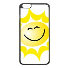 The Sun A Smile The Rays Yellow Apple Iphone 6 Plus/6s Plus Black Enamel Case by Simbadda