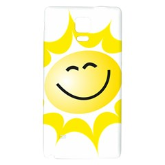 The Sun A Smile The Rays Yellow Galaxy Note 4 Back Case by Simbadda