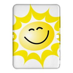 The Sun A Smile The Rays Yellow Samsung Galaxy Tab 4 (10 1 ) Hardshell Case  by Simbadda
