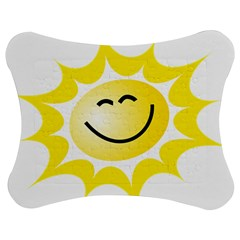 The Sun A Smile The Rays Yellow Jigsaw Puzzle Photo Stand (bow) by Simbadda