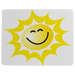 The Sun A Smile The Rays Yellow Jigsaw Puzzle Photo Stand (rectangular) by Simbadda