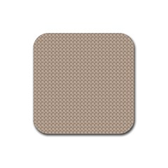 Pattern Ornament Brown Background Rubber Square Coaster (4 Pack)  by Simbadda