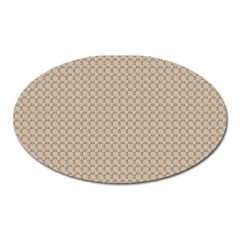 Pattern Ornament Brown Background Oval Magnet by Simbadda