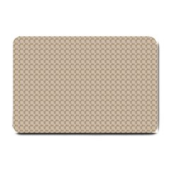 Pattern Ornament Brown Background Small Doormat  by Simbadda