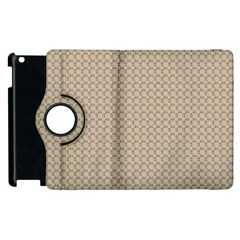 Pattern Ornament Brown Background Apple Ipad 2 Flip 360 Case